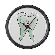 Dentist Dental Hygienist Teeth Large Wall Clock