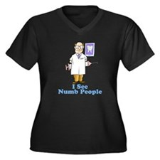 Funny Dentist Numb People Women's Plus Size V-Neck