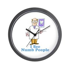 Funny Dentist Numb People Wall Clock