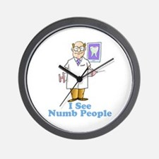Funny Dentist Numb People Wall Clock