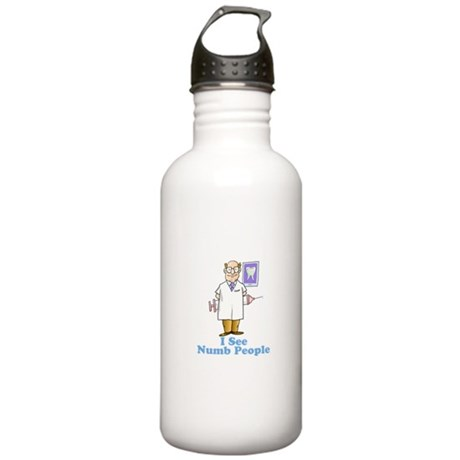 Funny Dentist Numb People Stainless Water Bottle 1