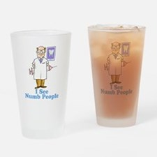 Funny Dentist Numb People Drinking Glass