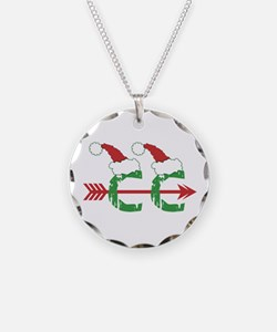 Cross Country Christmas Necklace