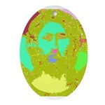 Pastel Jesus Oval Ornament