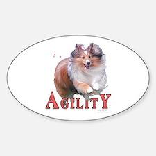 Sheltie Agility Oval Decal