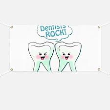 Funny Dentists Rock Banner