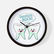 Funny Dentists Rock Wall Clock