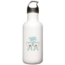 Funny Dentists Rock Water Bottle