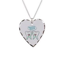 Funny Dentists Rock Necklace Heart Charm