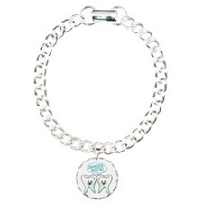 Funny Dentists Rock Charm Bracelet, One Charm