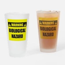 WARNING: Biological Hazard Drinking Glass