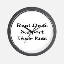 Real Dads Support Wall Clock