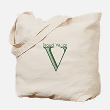 V is for Vegan Tote Bag