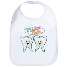 Peace Love Dental Floss Bib