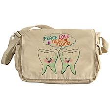 Peace Love Dental Floss Messenger Bag