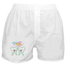 Peace Love Dental Floss Boxer Shorts