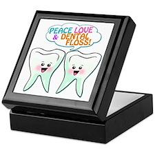 Peace Love Dental Floss Keepsake Box