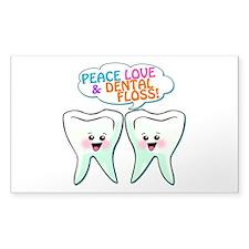 Peace Love Dental Floss Decal