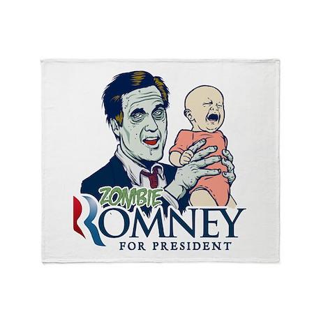 Zombie Romney Throw Blanket
