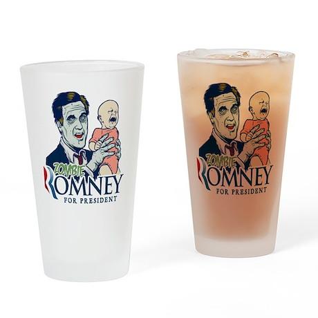 Zombie Romney Drinking Glass