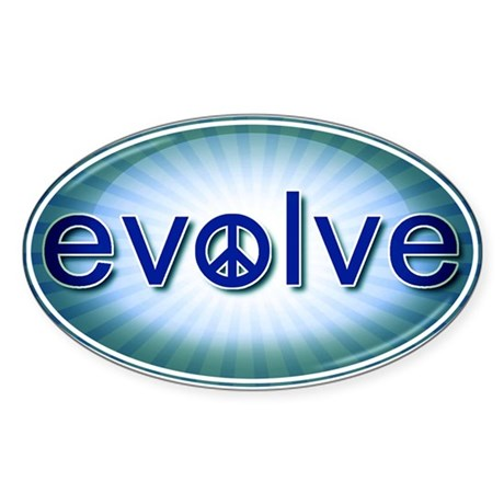 Evolve with PEACE! - Sticker (Oval)