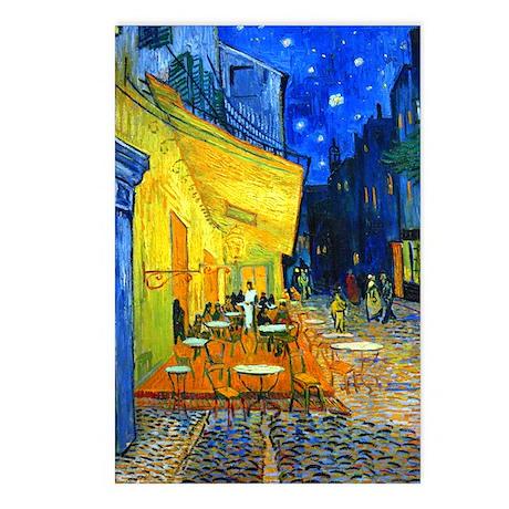 Van Gogh - Cafe Terrace Postcards (Package of 8)