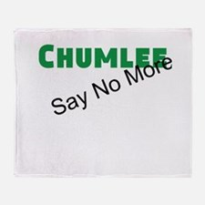 Chumlee Say No More Throw Blanket