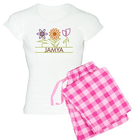 Jamya with cute flowers Women's Light Pajamas