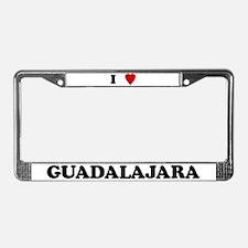 I Love Guadalajara License Plate Frame