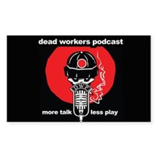 Dead Workers Podcast Rectangle Decal