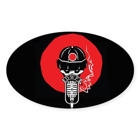 Dead Workers Podcast Oval Sticker