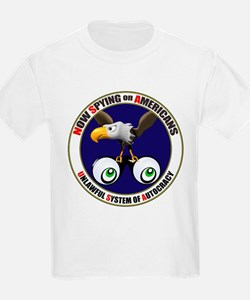 Now Spying on Americans Kids T-Shirt