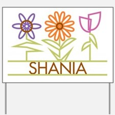 Shania with cute flowers Yard Sign