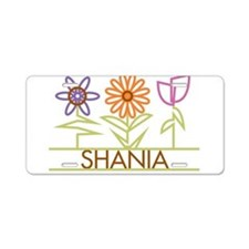 Shania with cute flowers Aluminum License Plate