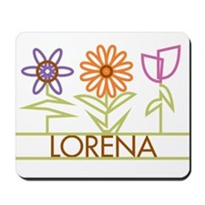 Lorena with cute flowers Mousepad