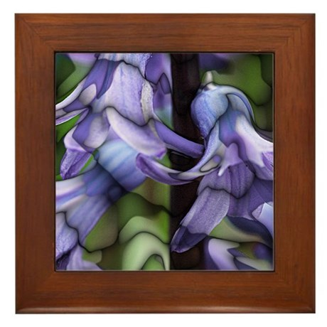 Stained Glass Hyacinths Framed Tile