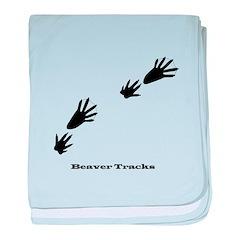 Beaver Tracks baby blanket
