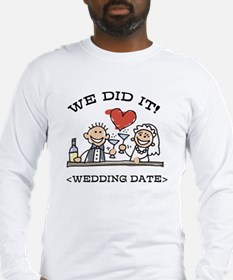 Funny Personalized Wedding Long Sleeve T-Shirt