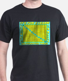 It's Fun To Learn Multiplicat Black T-Shirt
