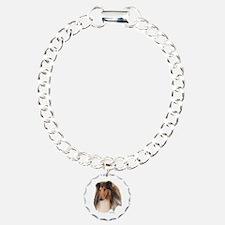 Rough Collie Art Charm Bracelet, One Charm