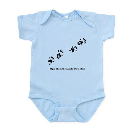 Spotted Skunk Tracks Infant Bodysuit
