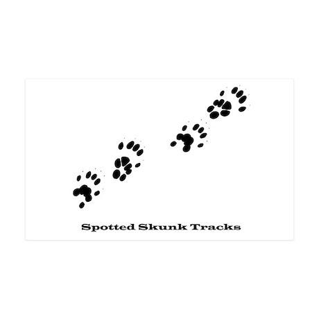 Spotted Skunk Tracks 38.5 x 24.5 Wall Peel