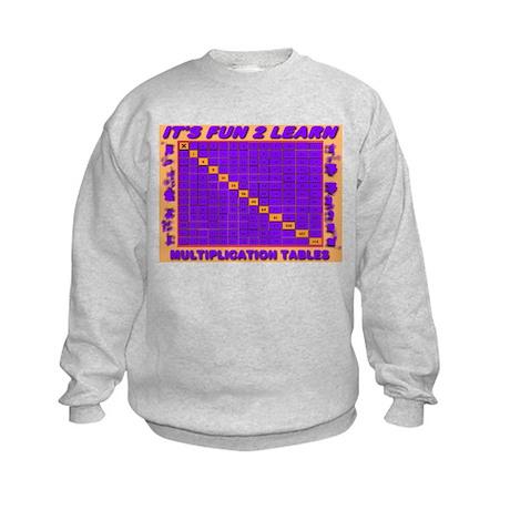 It's Fun To Learn Multiplicat Kids Sweatshirt