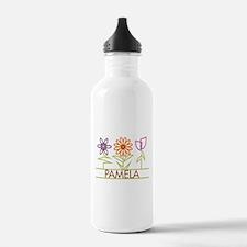 Pamela with cute flowers Water Bottle