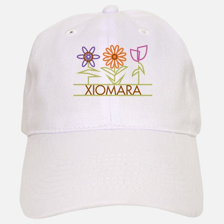 Xiomara with cute flowers Baseball Baseball Cap