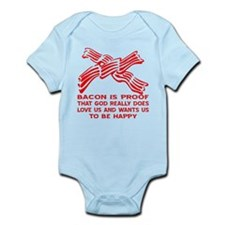 Bacon God Does Love Us Infant Bodysuit