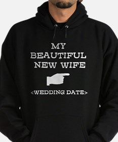 New Wife (Wedding Date) Hoodie (dark)