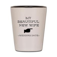 New Wife (Wedding Date) Shot Glass