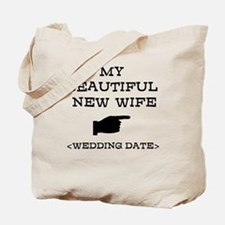New Wife (Wedding Date) Tote Bag