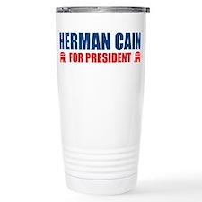 HERMAN CAIN FOR PRESIDENT 201 Travel Mug